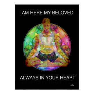 "COLORFUL ARA YOGA MEDITATION 18 x 24"" POSTER"