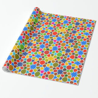 Colorful Arabian Star Pattern Wrapping Paper