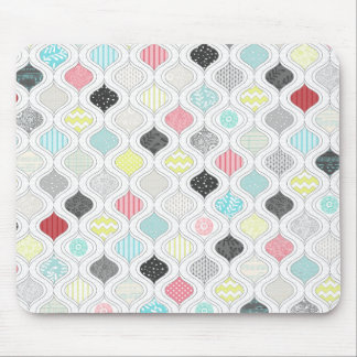 colorful arabic diamond pattern mouse pad