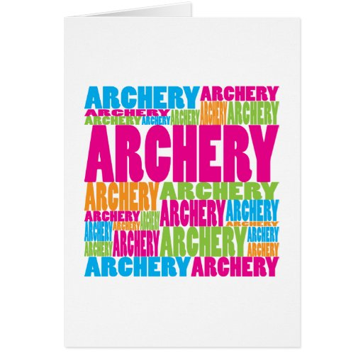 Colorful Archery Greeting Cards