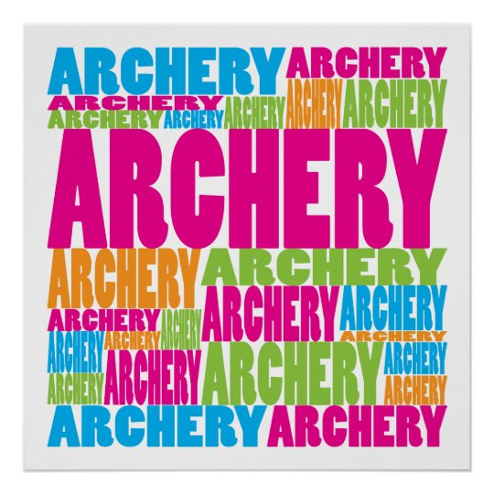 Colorful Archery Poster