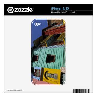 Colorful architecture of La Boca neighborhood iPhone 4 Decal