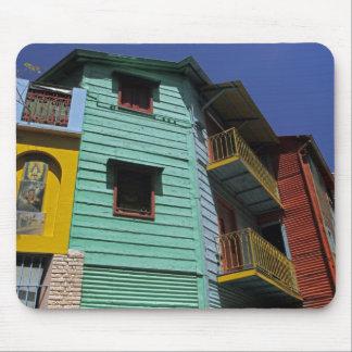 Colorful architecture of La Boca neighborhood Mouse Pad