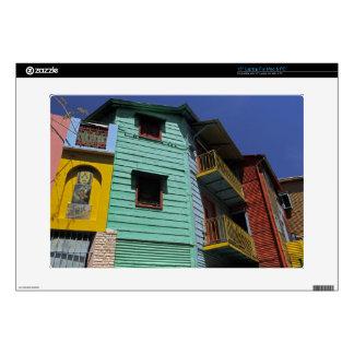 Colorful architecture of La Boca neighborhood Laptop Decal