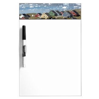 Colorful architecture of the town, Narsaq, Dry-Erase Board