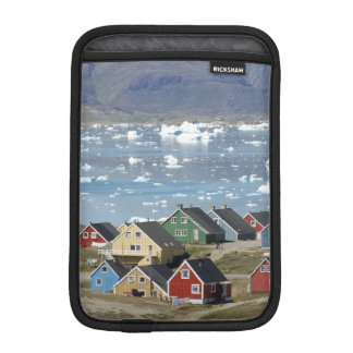 Colorful architecture of the town, Narsaq, iPad Mini Sleeves