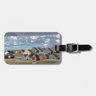 Colorful architecture of the town, Narsaq, Luggage Tag