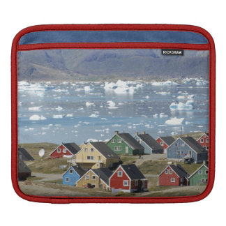 Colorful architecture of the town, Narsaq, Sleeve For iPads