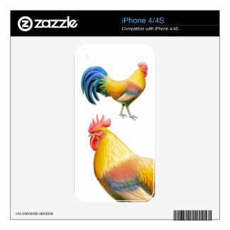 Colorful Ardenner Rooster Zazzle Skin Decal For iPhone 4