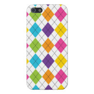 Colorful Argyle Cool iPhone 5 Cases for Girls