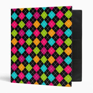 Colorful Argyle Pattern 1 Inch Binder