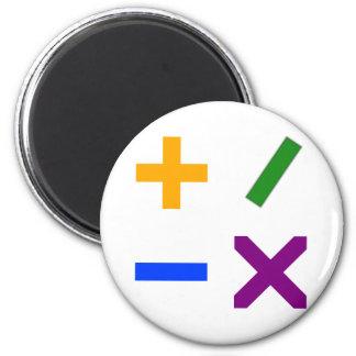 Colorful Arithmetic Symbols 2 Inch Round Magnet