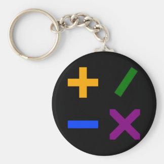 Colorful Arithmetic Symbols Basic Round Button Keychain