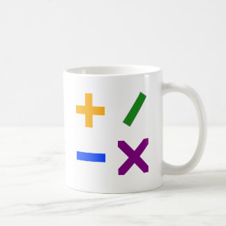 Colorful Arithmetic Symbols Classic White Coffee Mug