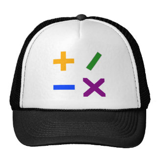 Colorful Arithmetic Symbols Trucker Hats