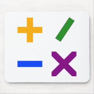 Colorful Arithmetic Symbols Mouse Pad