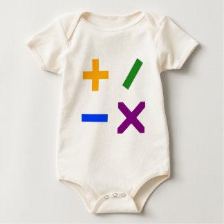 Colorful Arithmetic Symbols Rompers