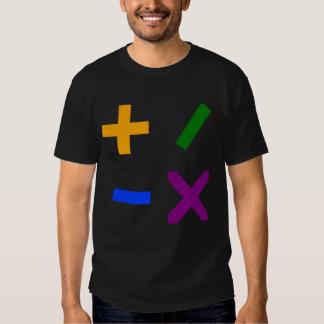 Colorful Arithmetic Symbols T Shirt