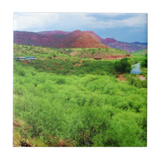 Colorful Arizona Canyon Train - Southwest Outdoors Tiles
