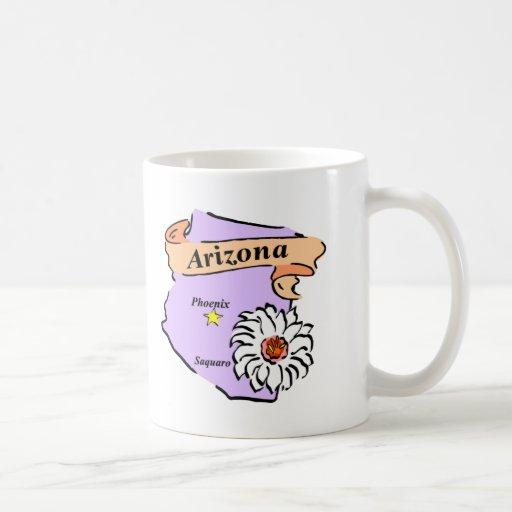 Colorful Arizona Map Gifts and Tees Coffee Mugs