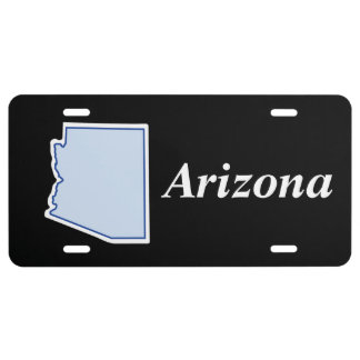 Colorful ARIZONA Outline Map License Plate