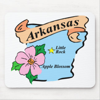 Colorful Arkansas Map Gifts and Tees Mouse Pad