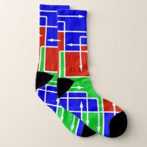Colorful Arrow Grid Pattern Socks