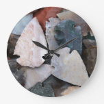 Colorful Arrowheads Large Clock