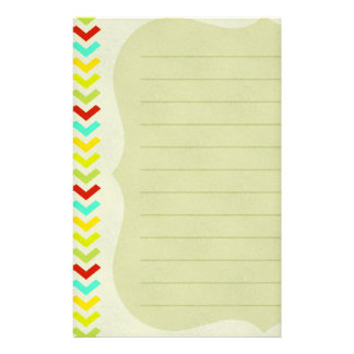 Colorful Arrows Scalloped Lined Stationery