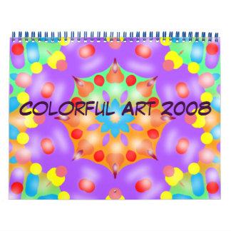 Colorful Art 2008 Calendar