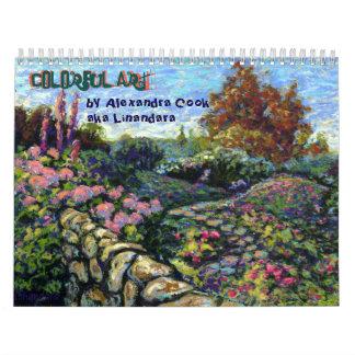 Colorful Art by Alexandra Cook aka Linandara Calendar
