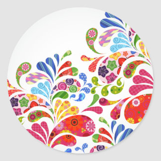 Colorful Art Classic Round Sticker