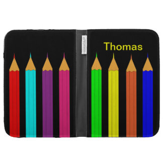 Colorful Art Coloring Pencils Picture Kindle Cases