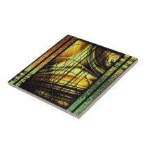 Colorful art Deco style design Ceramic Tile