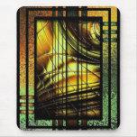 Colorful art Deco style design Mousepads