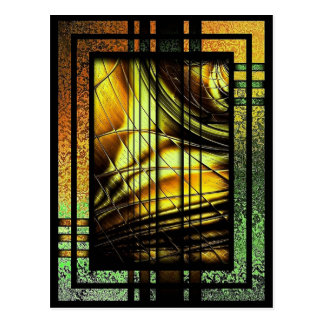 Colorful art Deco style design Postcard