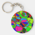 Colorful art keychain