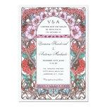 Colorful Art Nouveau Vintage Wedding Invitations