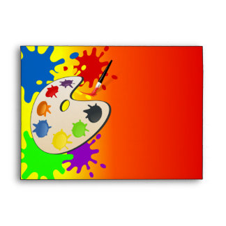 Colorful Art Palate Party Envelope