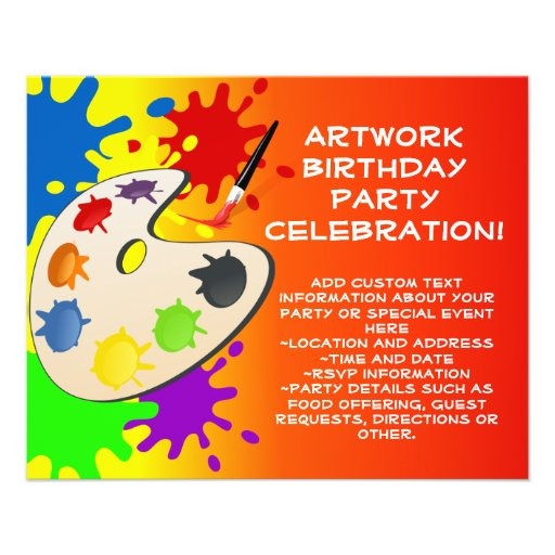 Colorful Art Palate Party Flyer