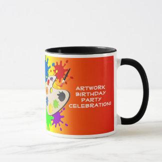 Colorful Art Palate Party Mug