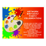 Colorful Art Palate Party Postcard