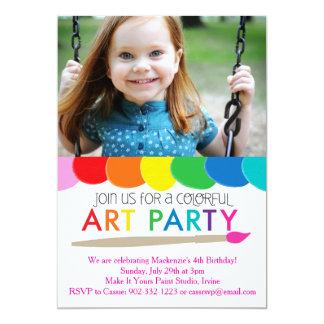 Colorful Art Party Invitation