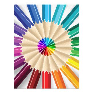 Colorful Art Pencils Pattern Flyers