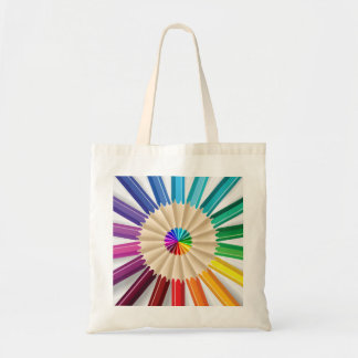 Colorful Art Pencils Pattern Tote Bag