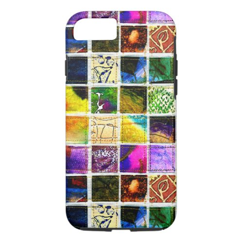 Colorful art squares iPhone 8/7 case