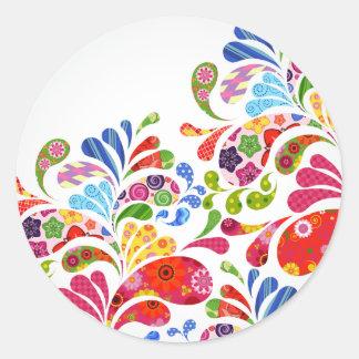 Colorful Art Classic Round Sticker