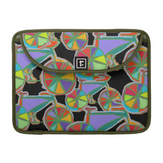 colorful art stylish bicycles sleeve for MacBook pro