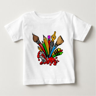 Colorful Art Supplies Baby T-Shirt