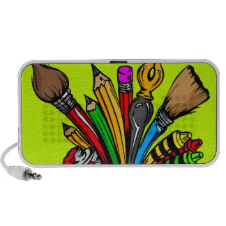 Colorful Art Supplies Notebook Speakers